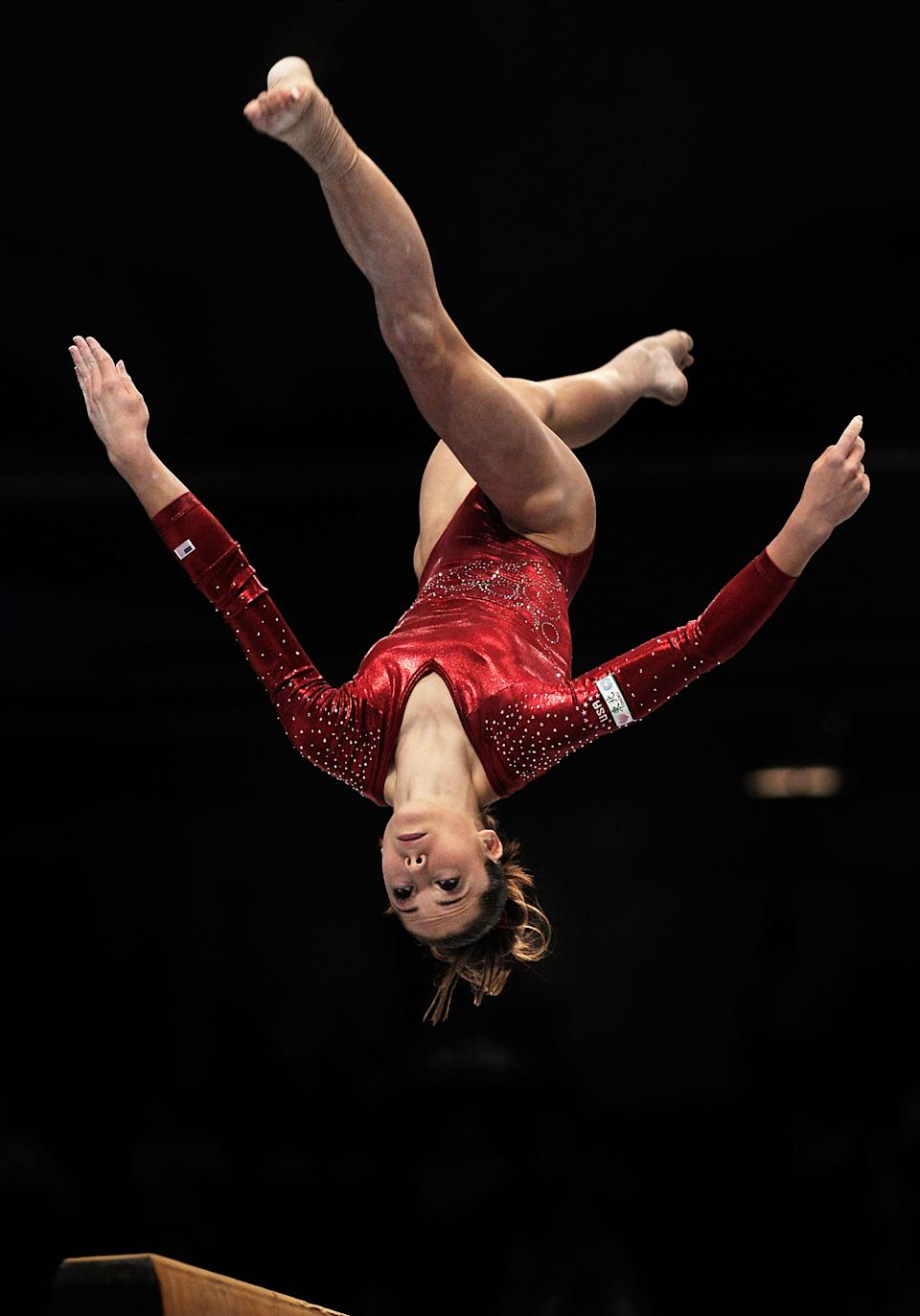 Mc Kayla Maroney of the USA competes on the beam aparatus in the women's qualification during day two of the Artistic Gymnastics World Championships Tokyo 2011. (Adam Pretty/Getty Images)