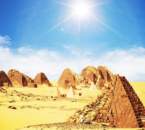 Pyramids in Sudan, where less than 20 per cent of the population can access the internet - Credit: Galyna Andrushko - Fotolia
