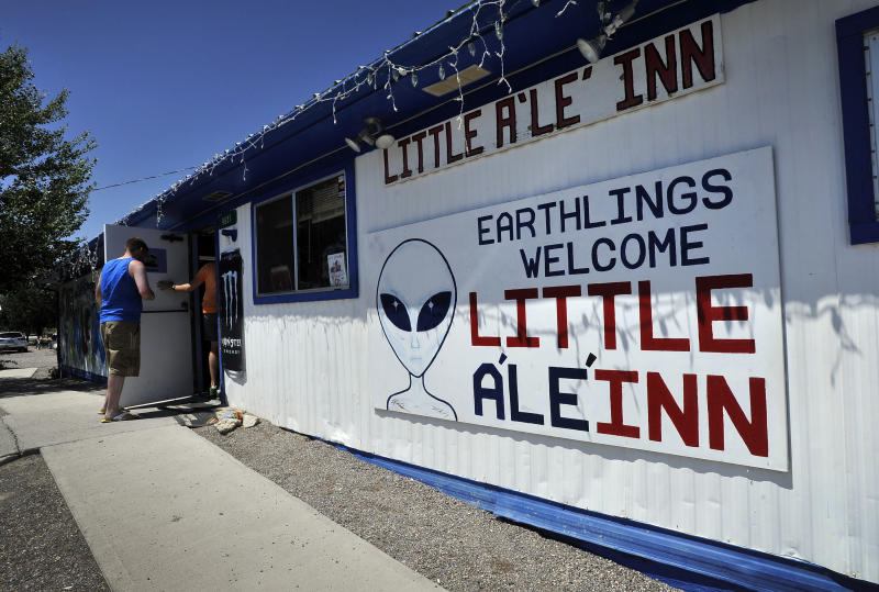 The Little A'Le'Inn in Rachel, Nevada. (Photo: David Becker/ZUMA Wire)