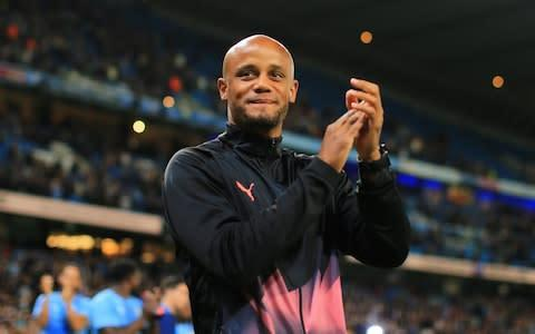 <span>Vincent Kompany returned to the Etihad in September for his testimonial match</span> <span>Credit: GETTY IMAGES </span>