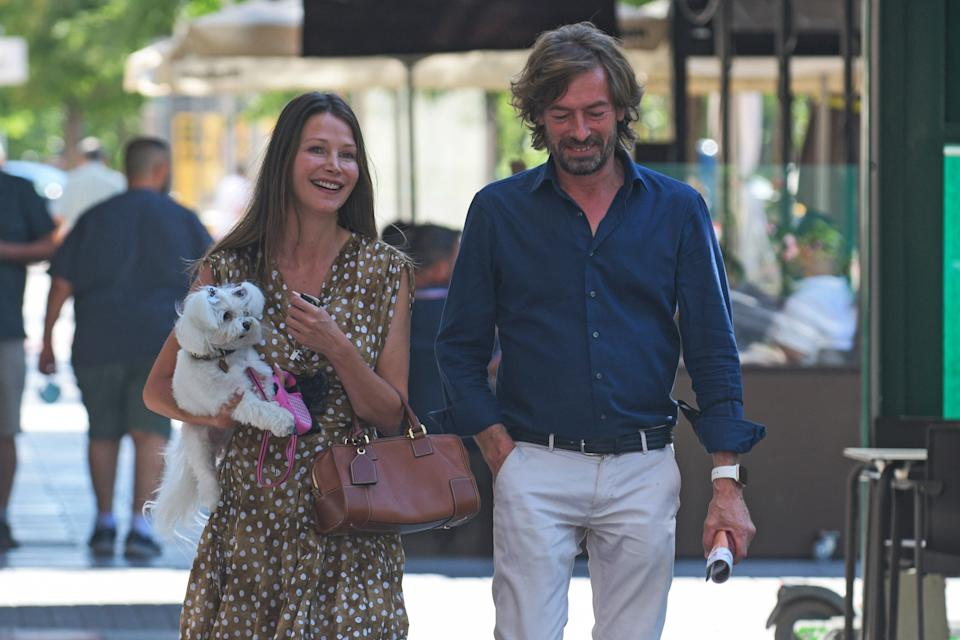 MADRID, SPAIN - AUGUST 04: Esther Doña and Santiago Pedraz are seen on August 4, 2021, in Madrid, Spain. (Photo By Jose Oliva/Europa Press via Getty Images)