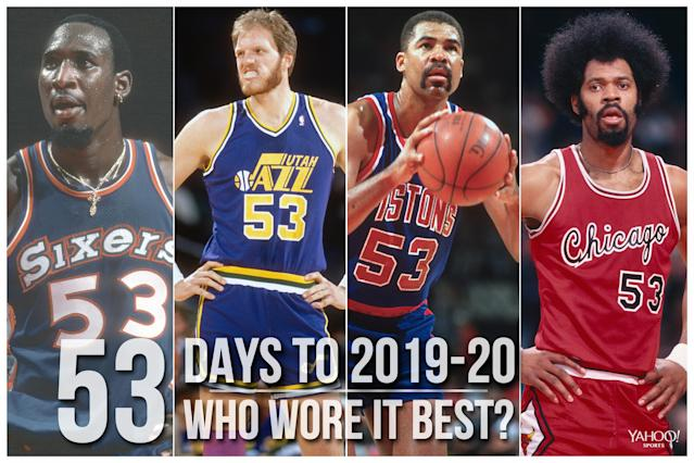 Which NBA player wore No. 53 best?
