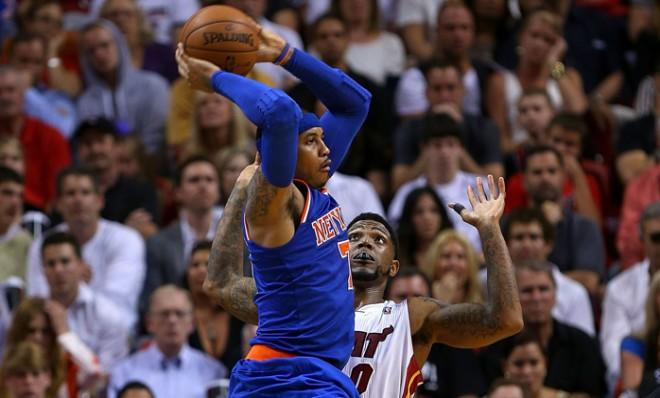 This season, Carmelo Anthony and the New York Knicks have the Miami Heat's number.