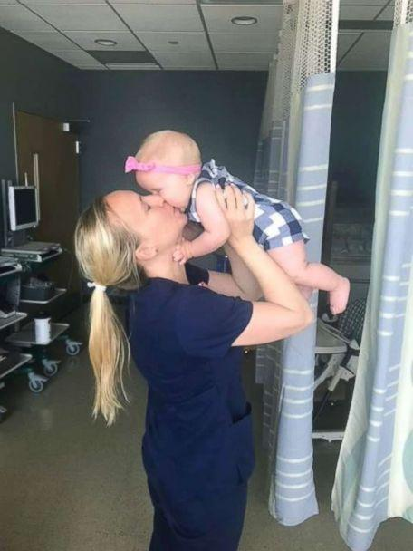 PHOTO: Abby Black holds her daughter, Vivian. (Community Hospital North )