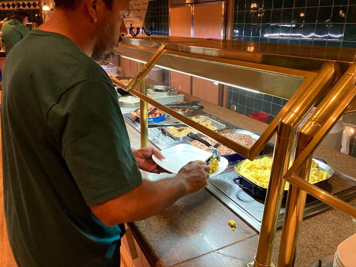 Circus Buffet at Circus Circus allows guests to serve themselves.