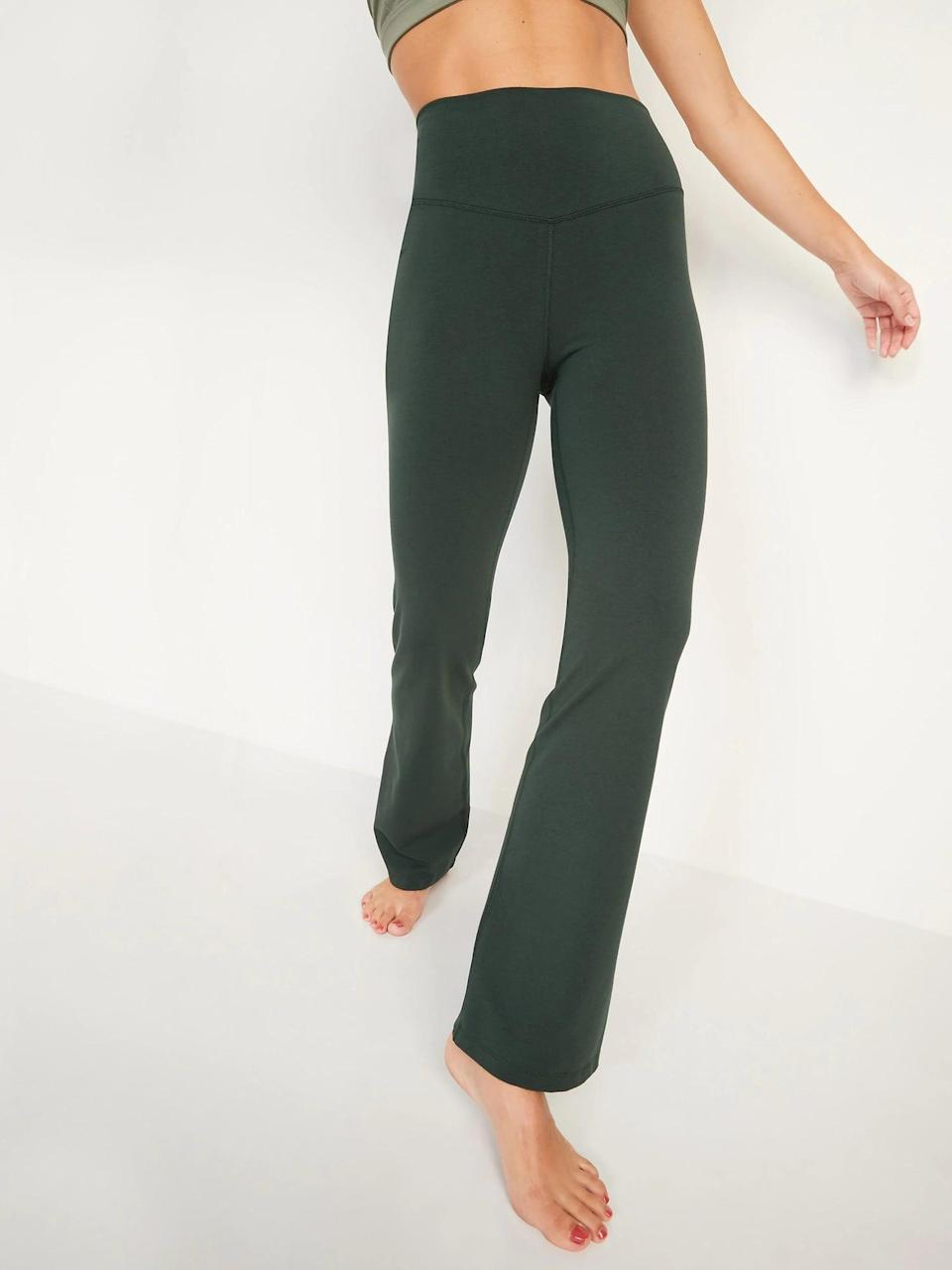 <p>Not all leaves change for fall and <span>Old Navy Extra High-Waisted PowerChill Hidden-Pocket Boot-Cut Pants</span> ($22, originally $27) are evergreen in their style for workouts <em>and</em> lounging.</p>