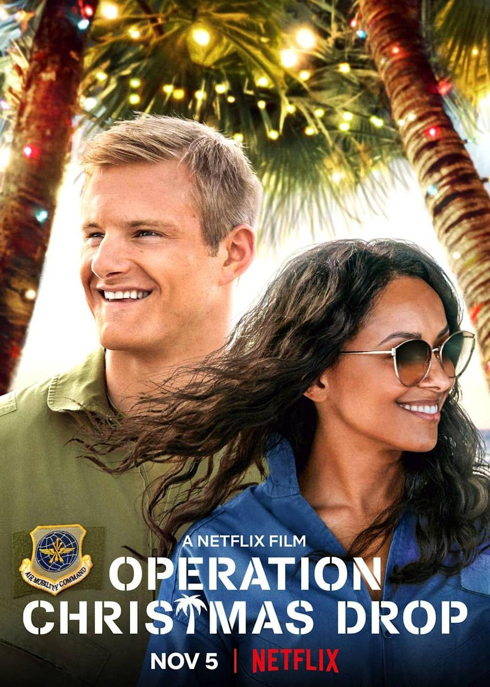 """<p>What's it take for a by-the-book Congressional aid to finally relax enough to understand the true meaning of the holidays? Nothing more than a trip to a U.S. Air Force base on a tropical island, some heartwarming moments with local kids in need, and one dashing and charismatic captain.</p><p><a class=""""link rapid-noclick-resp"""" href=""""https://www.netflix.com/title/81026186"""" rel=""""nofollow noopener"""" target=""""_blank"""" data-ylk=""""slk:Watch Now"""">Watch Now</a></p>"""