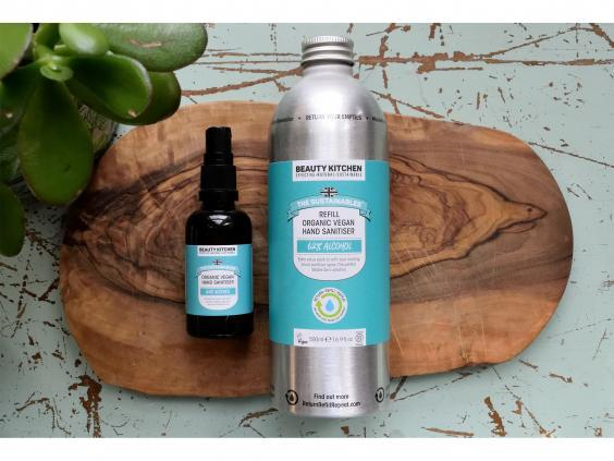 Go for an eco-friendly approach to your antibacterial hand gel with a refillable version (Beauty Kitchen)