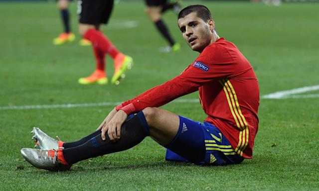 Álvaro Morata has had a disappointing first season with Chelsea.