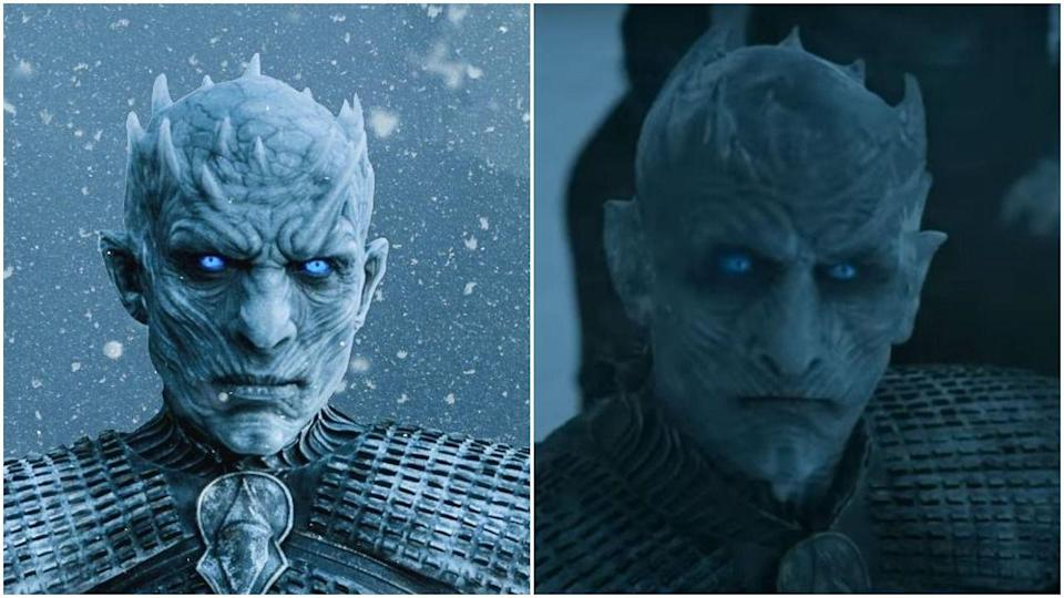 """<p>Apparently, <em>Game of Thrones </em>didn't think anyone would notice when an entirely different Night King rolled in during season 6. But hey, they also didn't think anyone would notice <a href=""""https://www.cosmopolitan.com/entertainment/a27371261/game-of-thrones-starbucks-cup/"""" rel=""""nofollow noopener"""" target=""""_blank"""" data-ylk=""""slk:that Starbucks coffee cup"""" class=""""link rapid-noclick-resp"""">that Starbucks coffee cup</a>. Richard Brake played the original Night King before being replaced by Vladimir Furdik, who—get this—<a href=""""https://ew.com/tv/2019/03/07/night-king-game-of-thrones-interview/"""" rel=""""nofollow noopener"""" target=""""_blank"""" data-ylk=""""slk:had previously played the first White Walker Jon Snow killed"""" class=""""link rapid-noclick-resp"""">had previously played the first White Walker Jon Snow killed</a>. </p>"""
