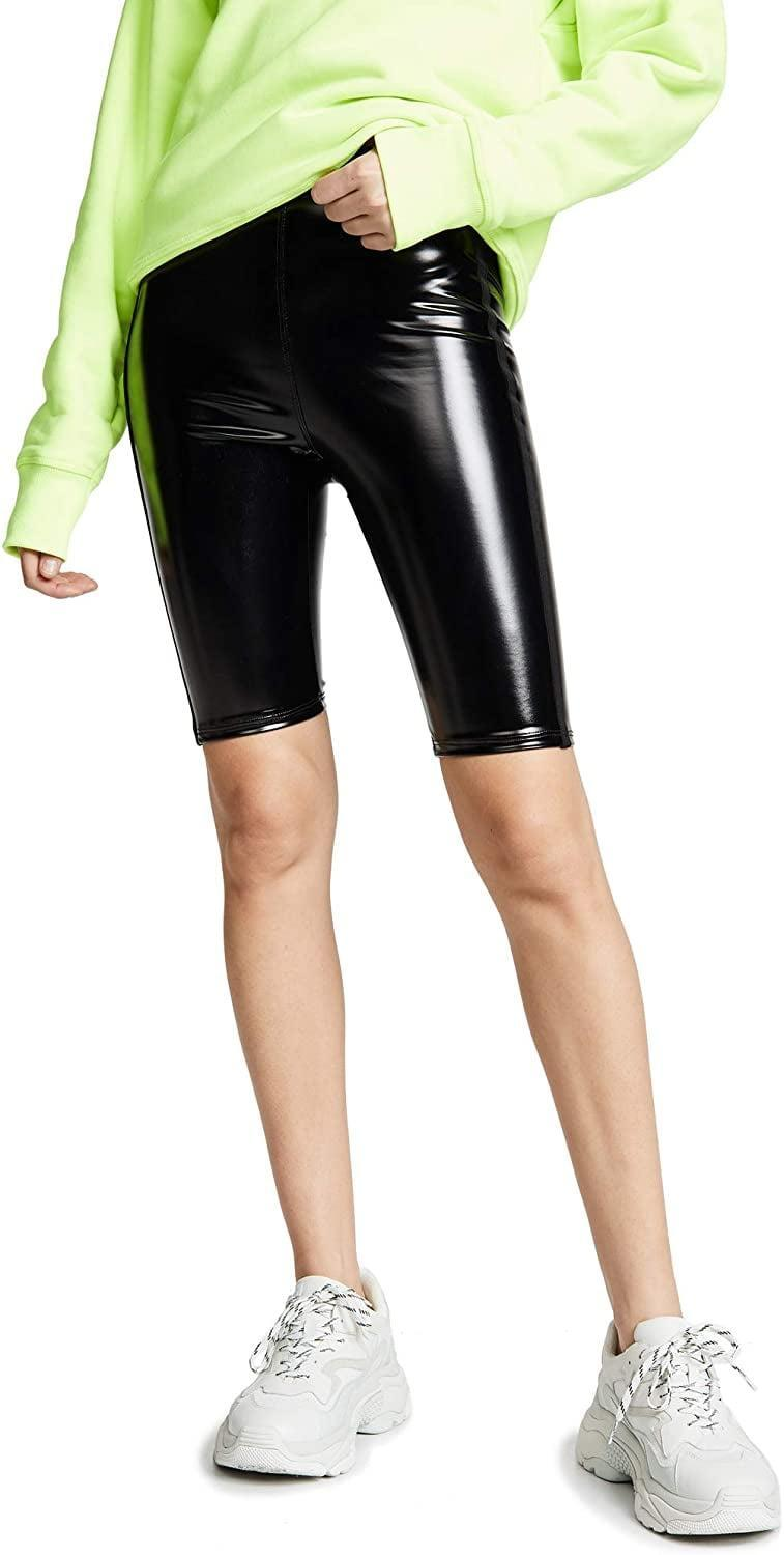 <p>These <span>Heroine Sport Downtown Patent Biker Shorts</span> ($90) look so cool.</p>