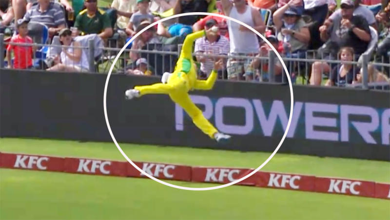 Steve Smith, pictured here saving six with this insane effort against South Africa.