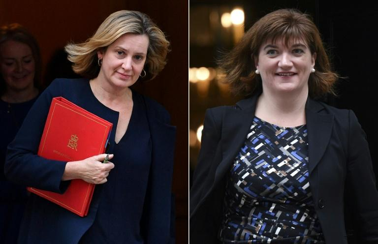 Several MPs, including two who served in Prime Minister Boris Johnson's cabinet, Amber Rudd and Nicky Morgan, are not standing again, citing threats and harassment (AFP Photo/Ben STANSALL, Daniel LEAL-OLIVAS)