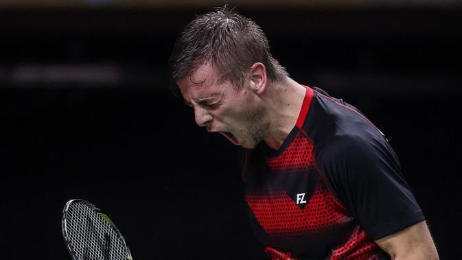 Hans-Kristian Vittinghus membantu Anthony Sinisuka Ginting lolos BWF World Tour Finals. (BWF-Limited Acces)