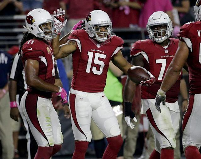 Michael Floyd (15) was claimed off waivers by the Patriots. (AP)
