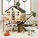 "Encourage hours of play <em>without</em> forfeiting your living room to a plastic monstrosity: Gift this wooden treehouse, which looks like something we'd want to live in. (No surprise: It's part of Chip and Joanna Gaines' Target collection.) $120, Target. <a href=""https://www.target.com/p/wooden-toy-treehouse-hearth-38-hand-8482-with-magnolia/-/A-79679236"" rel=""nofollow noopener"" target=""_blank"" data-ylk=""slk:Get it now!"" class=""link rapid-noclick-resp"">Get it now!</a>"