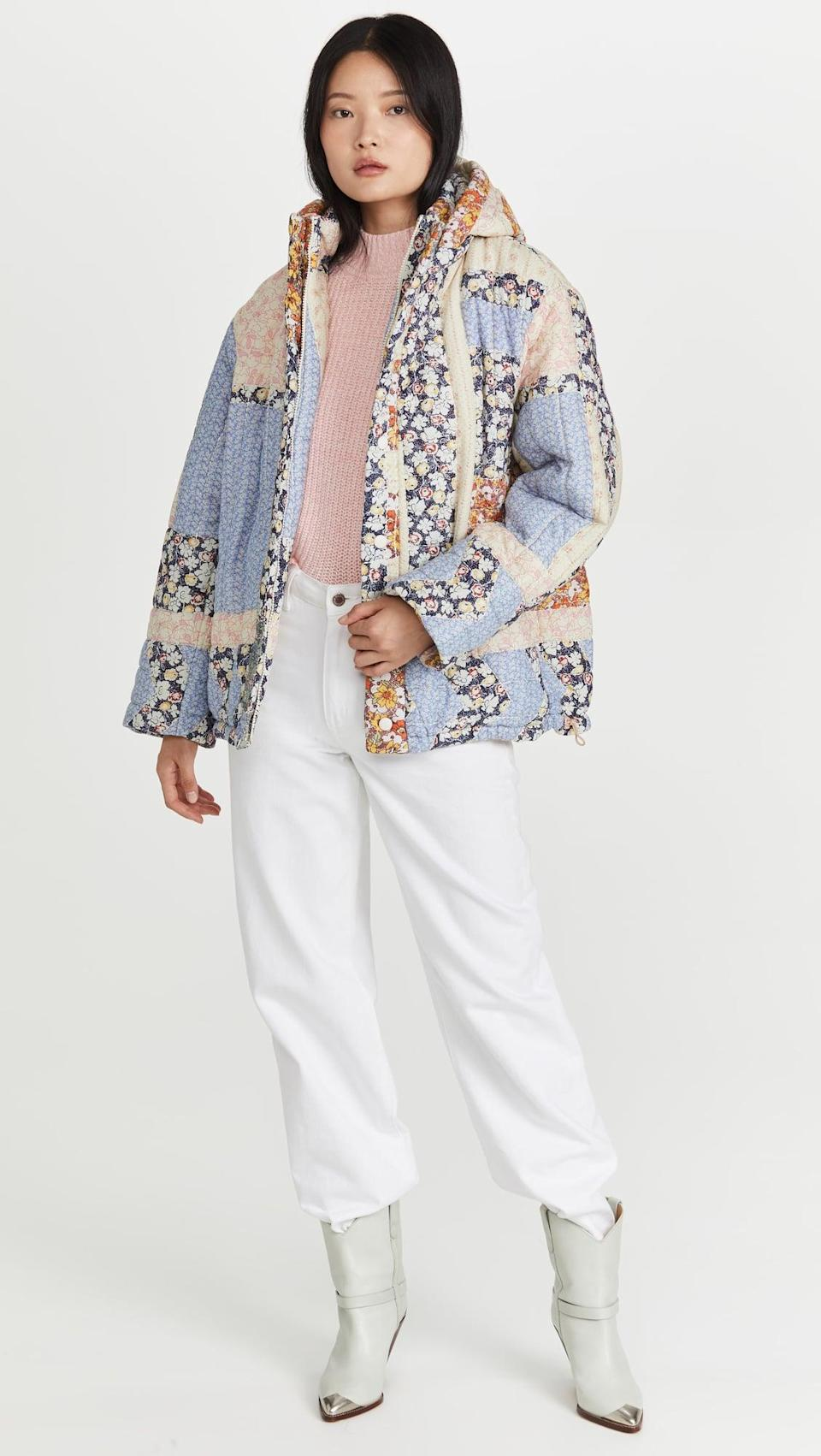 <p>The print on this <span>Sea Sydney Puffer Jacket</span> ($595) is so fun. This is one jacket we'll be reaching for throughout the fall.</p>