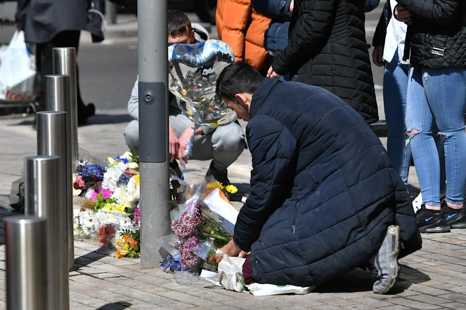 Tributes left at the scene of Fares' deathPA Wire