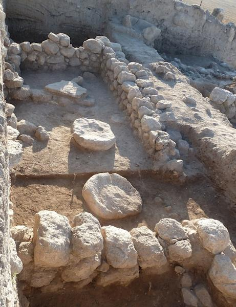 Floor level of the temple at Beth Shemesh.