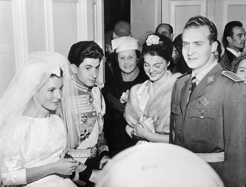SPAIN - MARCH 19: 19Th Of March. 1961. Madrid. Basilica Atocha. Wedding Of Princess Maria Teresa Of Bourbon Parma To The Marquis Of Laula (Photo by Keystone-France/Gamma-Keystone via Getty Images)