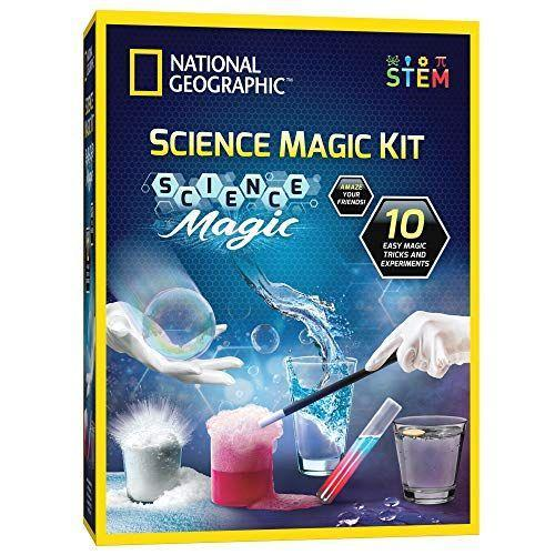 """<p><strong>NATIONAL GEOGRAPHIC</strong></p><p>amazon.com</p><p><strong>$14.99</strong></p><p><a href=""""https://www.amazon.com/dp/B085WF9CHH?tag=syn-yahoo-20&ascsubtag=%5Bartid%7C10070.g.34428616%5Bsrc%7Cyahoo-us"""" rel=""""nofollow noopener"""" target=""""_blank"""" data-ylk=""""slk:SHOP NOW"""" class=""""link rapid-noclick-resp"""">SHOP NOW</a></p><p>Give the gift of discovery with this kit. This science magic kit lets your kids perform 10 """"magic"""" tricks with the help of some seriously cool science. It's a gift that's both educational <em>and</em> fun, which makes it a win-win. <em>Ages 8+</em></p>"""