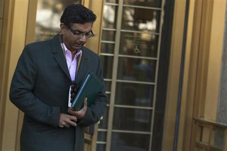 D'Souza exits the Manhattan Federal Courthouse in New York