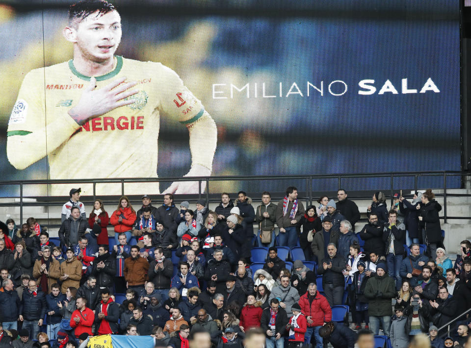 Sala signed for Cardiff in January but died while flying to England.