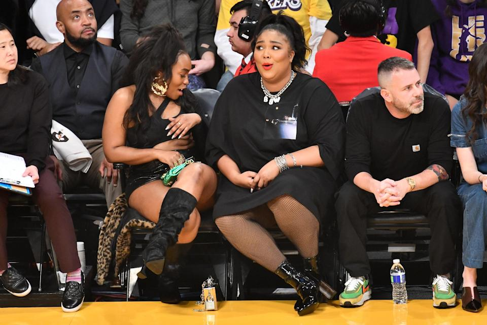 """It's safe to safe <a href=""""https://www.teenvogue.com/story/lizzos-lakers-game-outfit-exposed-her-butt-and-people-have-mixed-feelings?mbid=synd_yahoo_rss"""" rel=""""nofollow noopener"""" target=""""_blank"""" data-ylk=""""slk:Lizzo's courtside 'fit"""" class=""""link rapid-noclick-resp"""">Lizzo's courtside 'fit</a> will go down in history."""