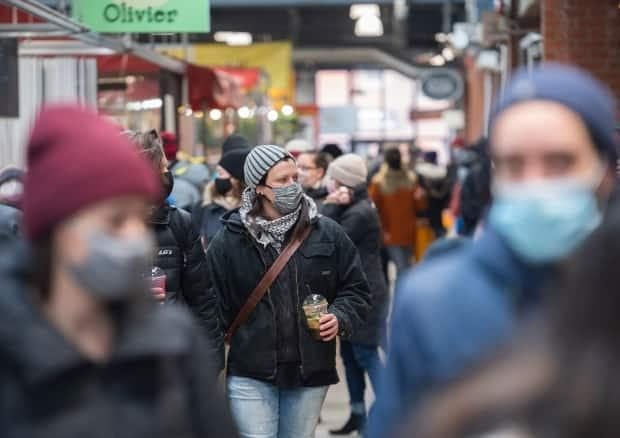 Face masks are mandatory while shopping in Quebec, and officials are still unable to say when such measures will be lifted despite the aim to vaccinate everybody by June 24.
