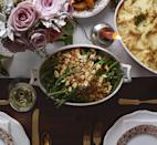 """<p>Almonds stirred into the breadcrumb topping makes it extra crispy.</p><p><em><a href=""""https://www.goodhousekeeping.com/food-recipes/a12062/french-green-beans-garlicky-almond-breadcrumbs-recipe-clx1114/"""" rel=""""nofollow noopener"""" target=""""_blank"""" data-ylk=""""slk:Get the recipe for French Green Beans with Garlicky Almond Breadcrumbs »"""" class=""""link rapid-noclick-resp"""">Get the recipe for French Green Beans with Garlicky Almond Breadcrumbs »</a></em></p><p><strong>RELATED: </strong><a href=""""https://www.goodhousekeeping.com/holidays/thanksgiving-ideas/g803/green-beans/"""" rel=""""nofollow noopener"""" target=""""_blank"""" data-ylk=""""slk:31 Green Bean Recipes For Thanksgiving That Will Make These Veggies the Life of the Party"""" class=""""link rapid-noclick-resp"""">31 Green Bean Recipes For Thanksgiving That Will Make These Veggies the Life of the Party</a><br></p>"""
