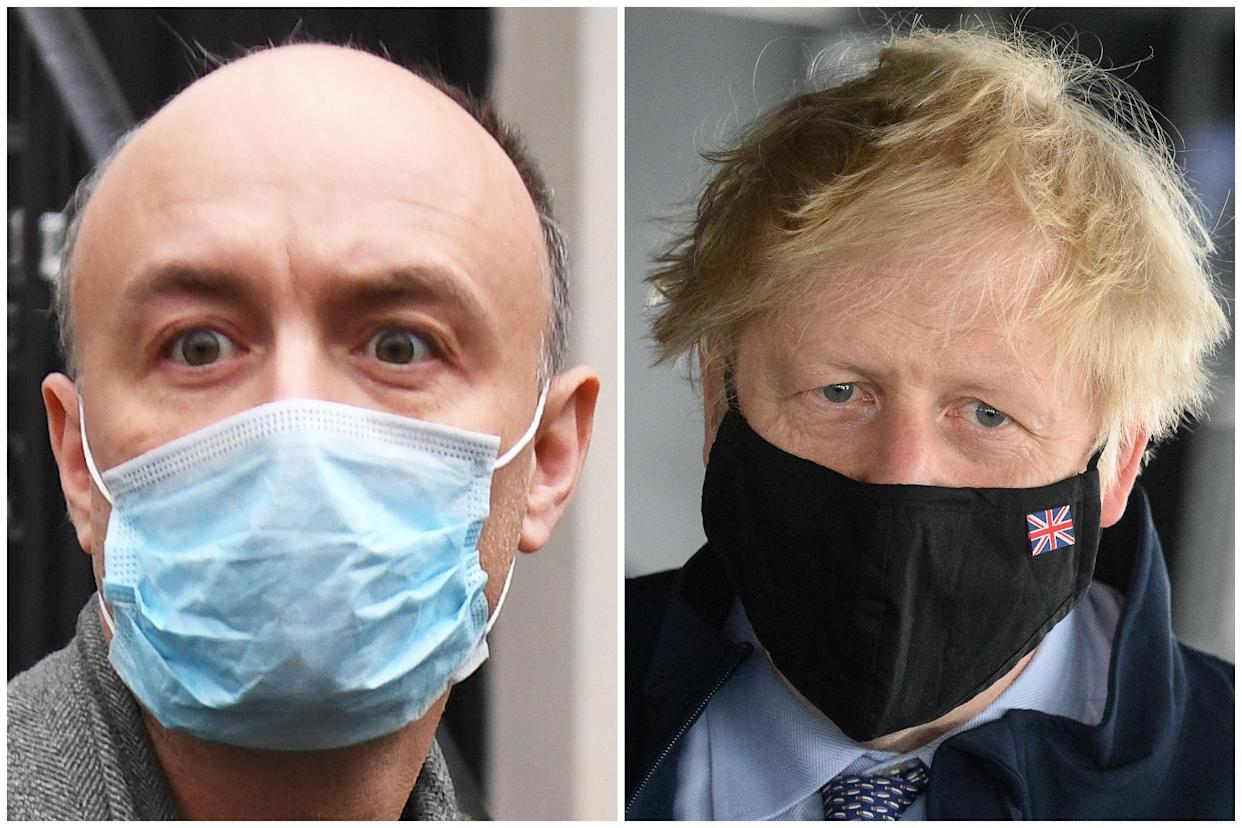 Dominic Cummings is set to give evidence about Boris Johnson's response to the coronavirus pandemic. (Getty Images)