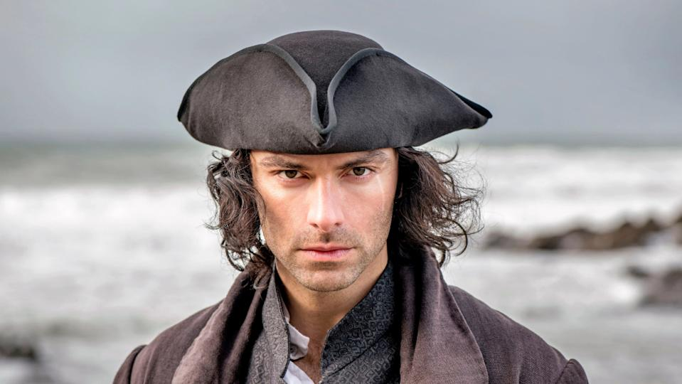 Aidan Turner has become a sex symbol for his work in 'Poldark'. (Credit: BBC)