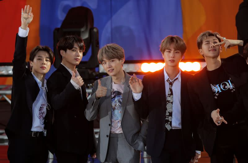 K-pop group BTS revels in a milestone but misses celebrating with fans