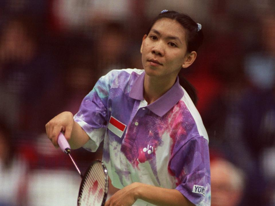 Indonesia's badminton star Susi Susanti, who became Southeast Asia's first Olympic gold medallist when she won the women's singles event at the 1992 Barcelona Games. (PHOTO: Tony Marshall/EMPICS via Getty Images)