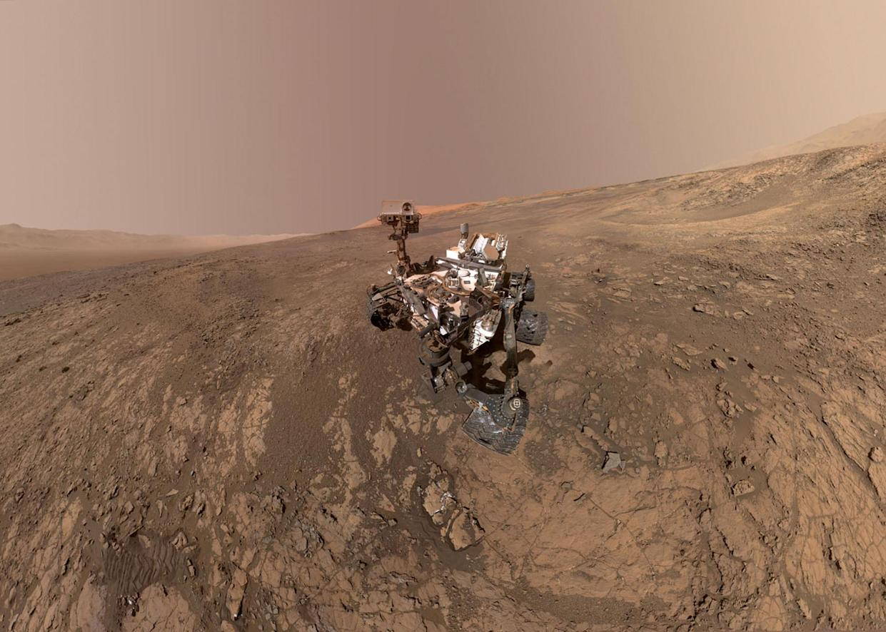 The Curiosity rover detected a sudden rise in methane (Getty)