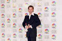 """<p>Pitt snagged his first and only win at the <a href=""""https://www.goldenglobes.com/person/brad-pitt"""" rel=""""nofollow noopener"""" target=""""_blank"""" data-ylk=""""slk:Golden Globes"""" class=""""link rapid-noclick-resp"""">Golden Globes</a> for his performance in Terry Gilliam's <em>Twelve Monkeys</em>. He has been nominated a total of six times.</p>"""