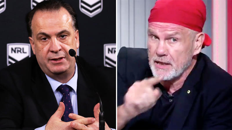Peter FitzSimons, pictured here hitting back at Peter V'landys.