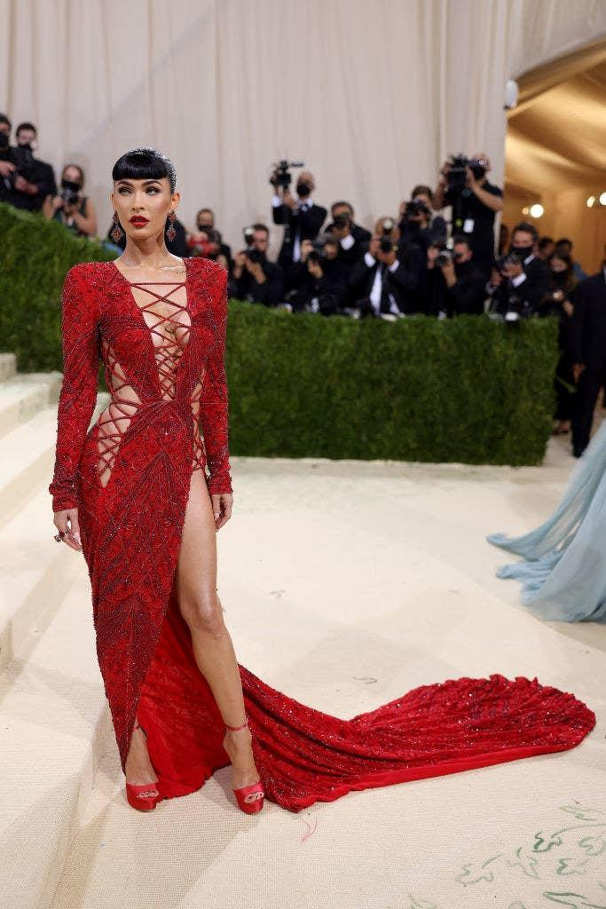 Megan Fox attends The 2021 Met Gala Celebrating In America: A Lexicon Of Fashion