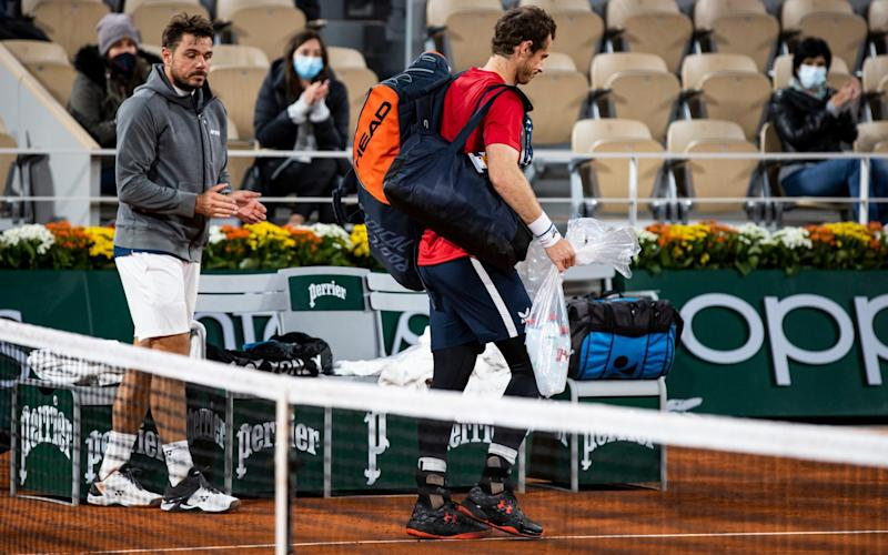 Andy Murray suffered a heavy defeat to Stan Wawrinka - Getty Images