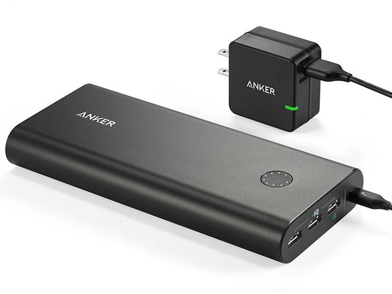 This US$80 Anker PowerCore+ 26800 is close to my idea of a perfect power bank. It has a 26,800mAh battery, has three smart ports (including a Quick Charge 2.0 output), and even comes with a Quick Charge 2.0 USB charger. (Image source: Anker.)