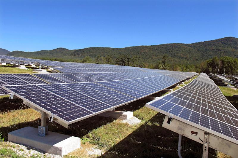 Solar panels in Rutland, Vermont.  (Photo: ASSOCIATED PRESS)