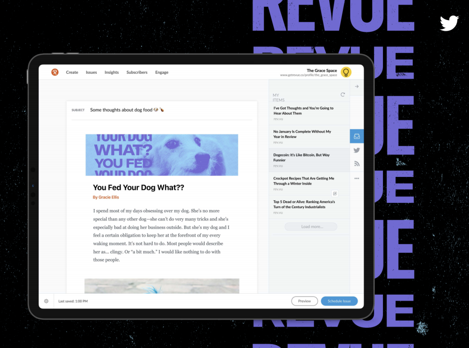 Twitter is integrating newsletters into its service with Revue.
