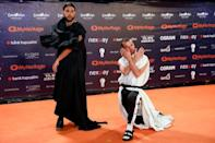 "Contestants Conan Osiris of Portugal pose on the ""Orange Carpet"" during the opening ceremony of the 2019 Eurovision Song Contest in Tel Aviv, Israel May 12, 2019. REUTERS/Amir Cohen"