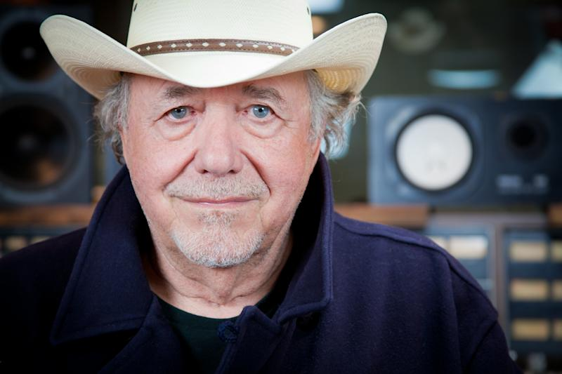 """This undated image released by Plowboy Records shows musician Bobby Bare. Bare's latest album is """"Darker Than Light,"""" a collaboration of Bare's favorite folks songs, including works by Bob Dylan, Lead Belly and Woody Guthrie. (AP Photo/Plowboy Records)"""