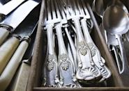 "<p>We've all heard the rumors that millennials' rejection of material goods has erased the value of things like sterling silver flatware. But antique silver can still command thousands of dollars on <a href=""https://go.redirectingat.com?id=74968X1596630&url=https%3A%2F%2Fwww.ebay.com%2Fsch%2Fi.html%3F_from%3DR40%26_nkw%3Dsilver%2Bflatware%26_sacat%3D131608%26_sop%3D16&sref=https%3A%2F%2Fwww.bestproducts.com%2Flifestyle%2Fg35989192%2Fgarage-sale-items-antiques-worth%2F"" rel=""nofollow noopener"" target=""_blank"" data-ylk=""slk:eBay"" class=""link rapid-noclick-resp"">eBay</a>, so it remains a potentially valuable garage store find.</p>"