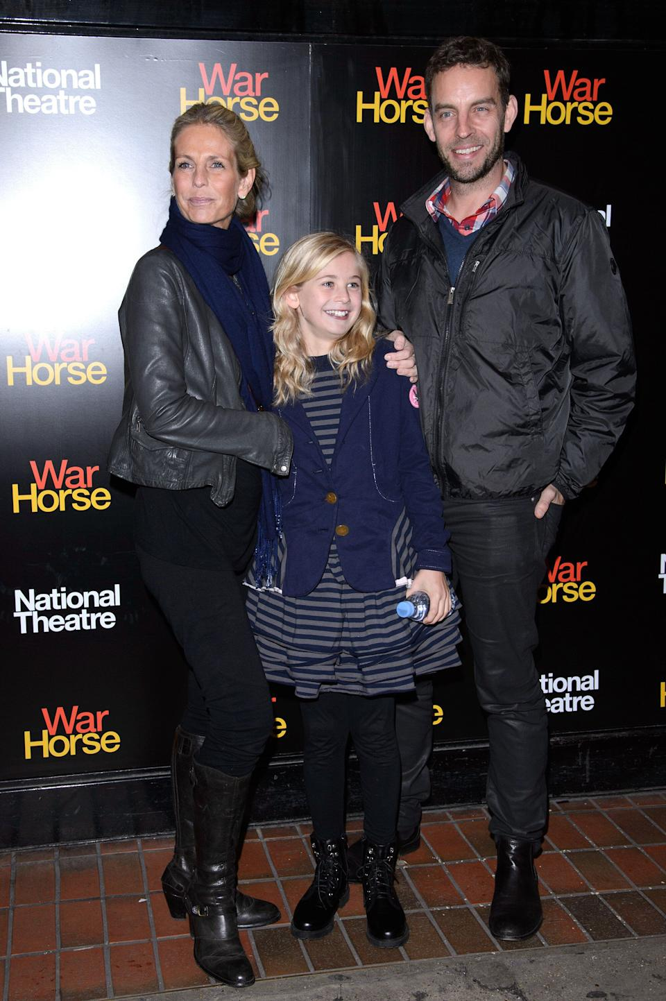 LONDON, ENGLAND - OCTOBER 25:  (L-R) Ulrika Jonsson and Brian Monet attends the 5th anniversary performance of 'War Horse' at The New London Theatre, Drury Lane on October 25, 2012 in London, England.  (Photo by Ben Pruchnie/Getty Images)