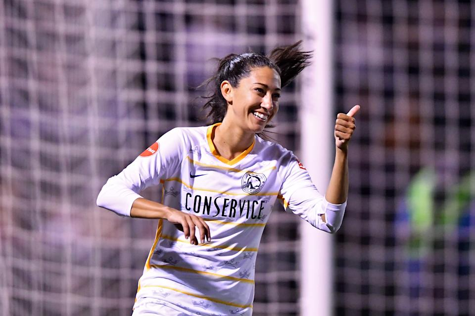 The Utah Royals, headlined by Christen Press, have enjoyed a much better infrastructure since relocating from Kansas City. (Getty)
