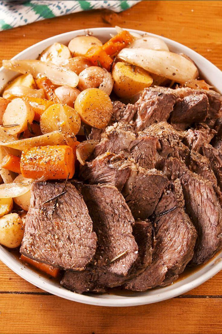 """<p>This is everything you need from meal and all made in your slow cooker. You'll savor every last bite. </p><p>Get your recipe from <a href=""""https://www.delish.com/cooking/recipe-ideas/a29480090/best-slow-cooker-pot-roast-recipe/"""" rel=""""nofollow noopener"""" target=""""_blank"""" data-ylk=""""slk:Delish"""" class=""""link rapid-noclick-resp"""">Delish</a>. </p>"""
