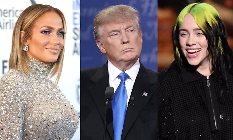 Jennifer Lopez, Billie Eilish and more than 200 stars were vetted about participating in a coronavirus PSA for the Trump administration.