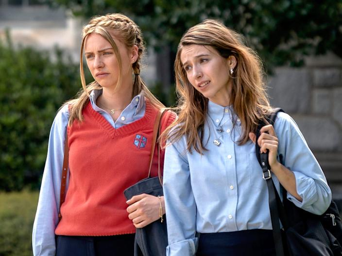 MADDIE PHILLIPS as STERLING WESLEY and ANJELICA BETTE FELLINI as BLAIR WESLEY in episode 101 of TEENAGE BOUNTY HUNTERS Cr. TINA ROWDEN:NETFLIX .JPG